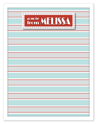 personal stationery - Broadway Stripes by Emily Ford