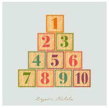 Wood Number Blocks by Dorothy Nichols