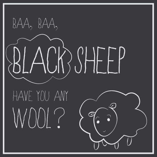 art prints - Little Black Sheep by Lauren Salomonson