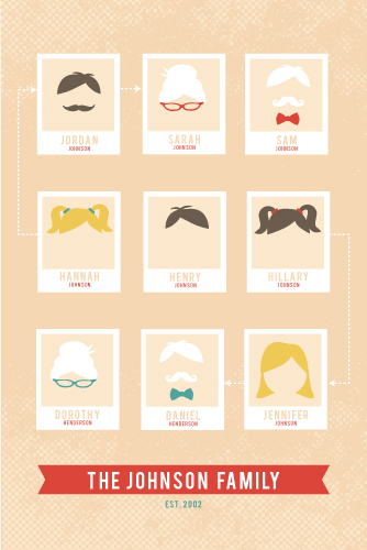 art prints - The Modern Family Tree by Serenity Avenue