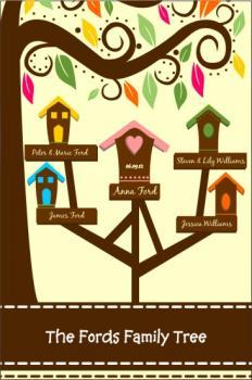 Modern Bird House Family Tree