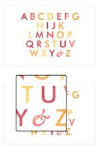 Pinstriped ABC's by Adrienne Berry