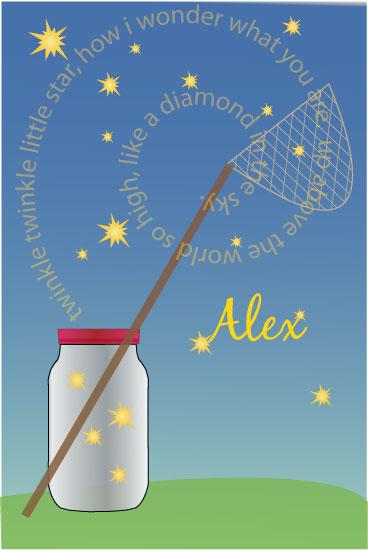 art prints - Fireflies a glow by Amy Weir