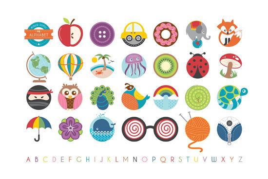 art prints - Alphabet in the Round by Lyndsay Johnson