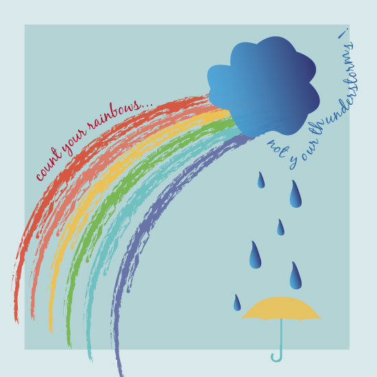 art prints - Rainbows not thunderstorms by Amy Weir