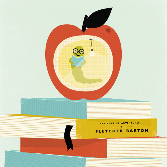 design - Be A Bookworm by Angela Marzuki