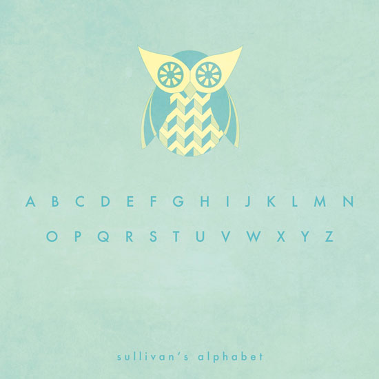 art prints - Owl Alphabet by Marianne McShane