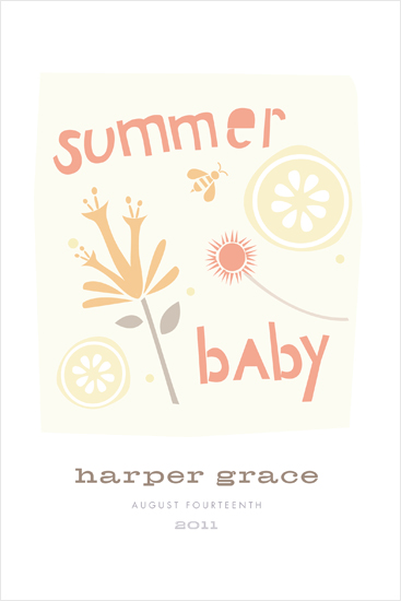 art prints - summer baby by Carolyn MacLaren