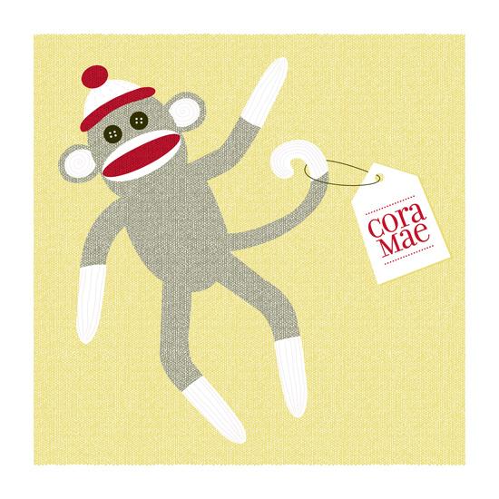 art prints - Sock Monkey by Tami Bohn