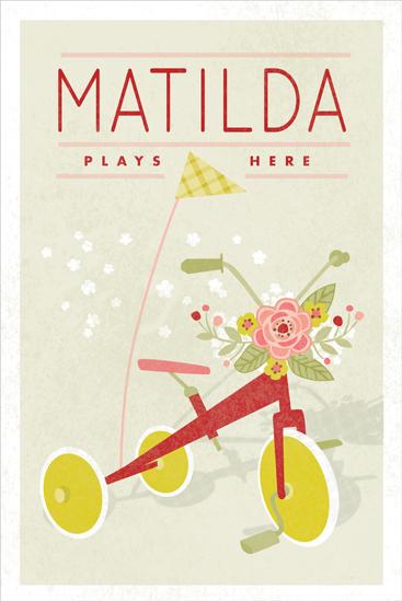 art prints - Botanical Tricycle by Yolanda Mariak Chendak