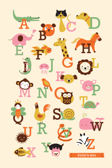 art prints - Animal A to Z by Anais Lee