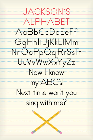 art prints - Now I Know My ABC's  by Laura Bolter Design