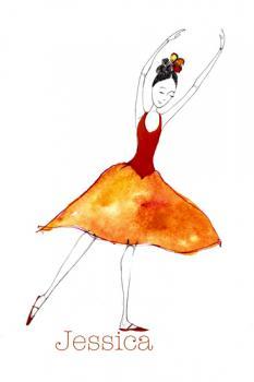 Orange Ballerina