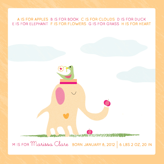 art prints - E is for elephant by Monica Schafer