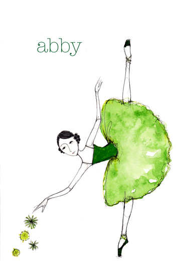 art prints - Green Ballerina by Sharon McKeeman