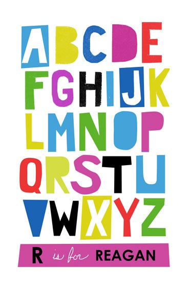 art prints - Paper Cut ABCs by Ampersand Design Studio