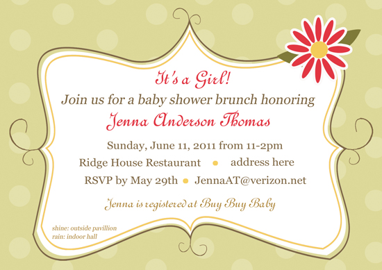 baby shower invitations - Pink Flower Shower by CML Designs