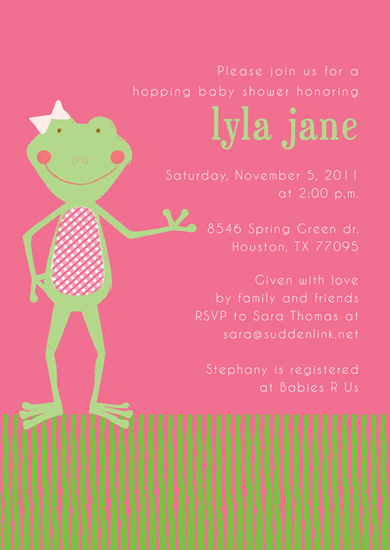 baby shower invitations - Hopping baby shower by Sarah Donovan