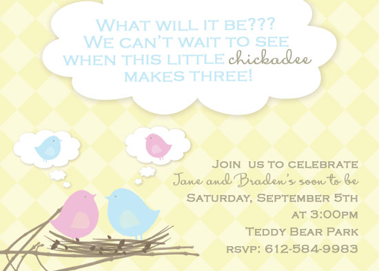 baby shower invitations - What will it be?? by My Sweetie Pie
