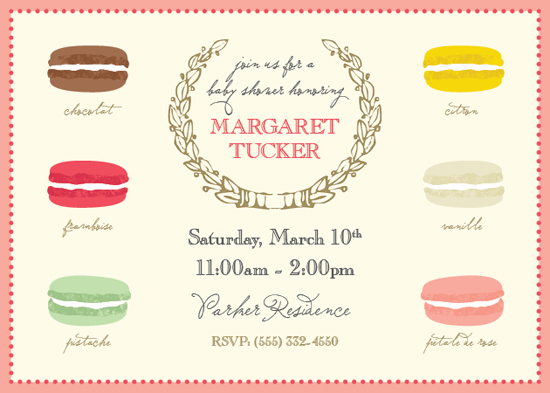 baby shower invitations - Little Macaron by Heather Myers