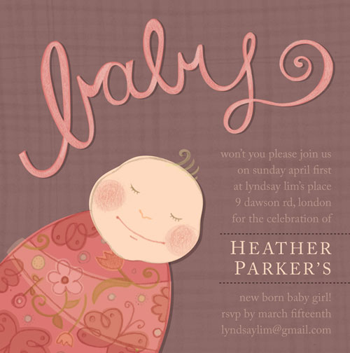 baby shower invitations - sleeping beauty by Danielle Hartgers