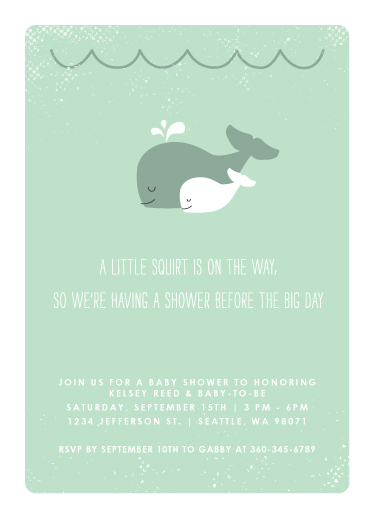 baby shower invitations - The Arrival of a Little Squirt by Serenity Avenue