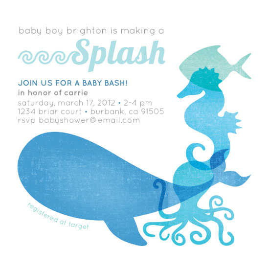 Baby Shower Invitations Ocean Friends At Minted