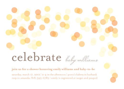 baby shower invitations - Bokeh by Lyndsay Johnson
