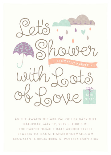 baby shower invitations - Shower with Love by Amber Barkley