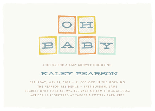 Baby shower invitations oh baby blocks at minted baby shower invitations oh baby blocks by amber barkley filmwisefo