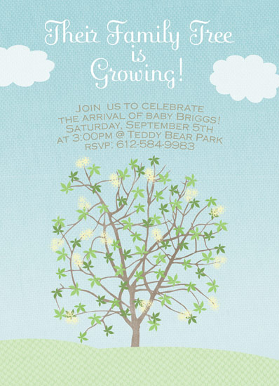 baby shower invitations - Growing Family Tree by My Sweetie Pie
