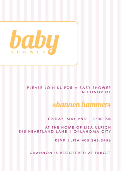 baby shower invitations - Baby Stripes by Marianne McShane
