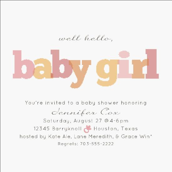 baby shower invitations - Well Hello! by Fish Feather