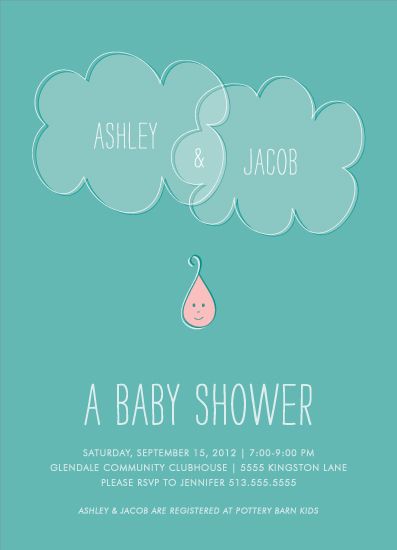 baby shower invitations - Droplet by Kim Dietrich Elam