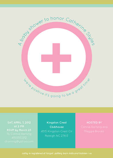 baby shower invitations - totally positive by Carol Fazio