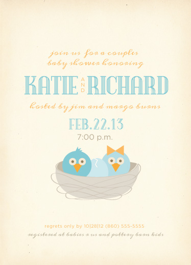 baby shower invitations - Welcome to the Nest by Sandy Pons