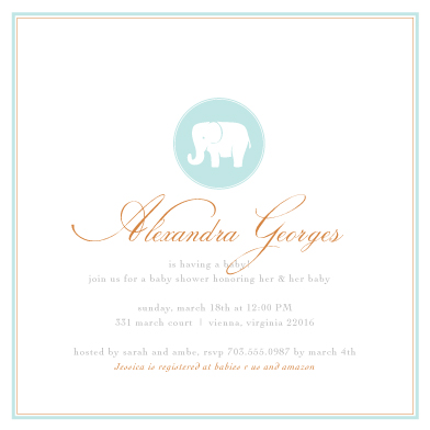 elegant baby shower invitation, Baby shower invitations