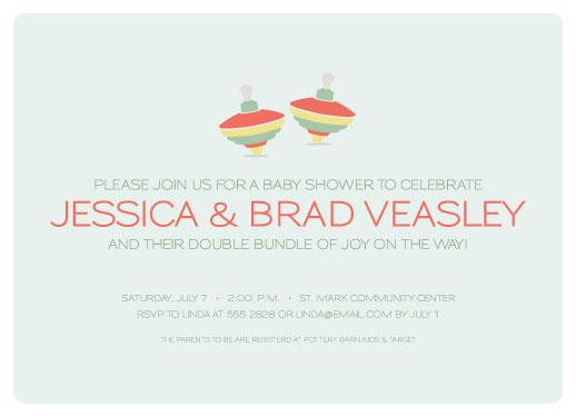 baby shower invitations - Tops by Lea Delaveris