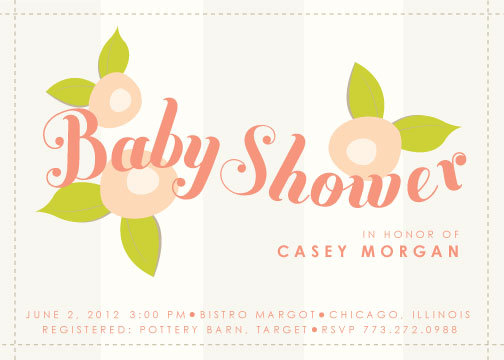 baby shower invitations - Flower Shower by Olive and Violet
