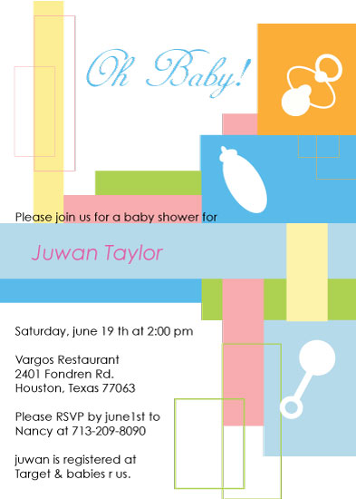 baby shower invitations - Baby Grids by Lana Boulos