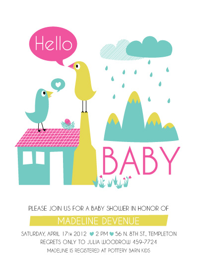 baby shower invitations - Little Flock by Kayla King