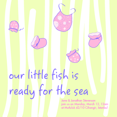 baby shower invitations - littlefish by Gizem Darendelioglu
