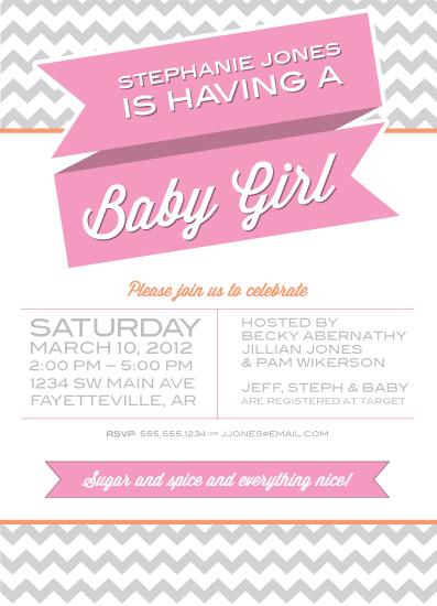 baby shower invitations - Baby a-comin' by Jillian Schlegel