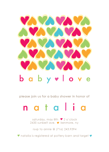 baby shower invitations - baby love by Michelle Enderton
