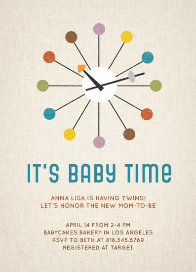 Baby shower invitations retro clock at minted baby shower invitations retro clock by lyndsay johnson filmwisefo