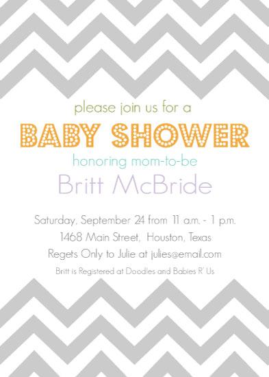 baby shower invitations Baby Chevron at Mintedcom