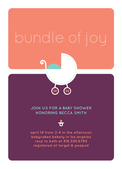 baby shower invitations - Bundle of Joy by Lyndsay Johnson