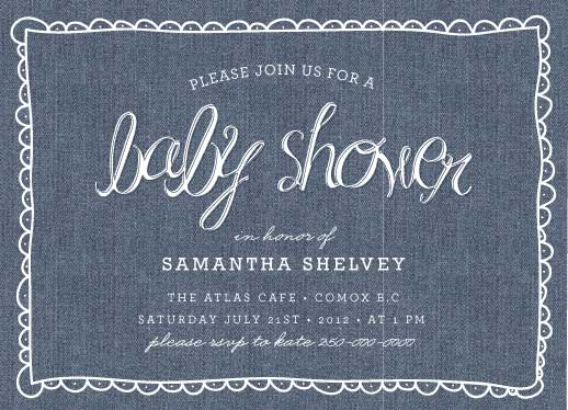 baby shower invitations - Blue Jean by Moe and Me