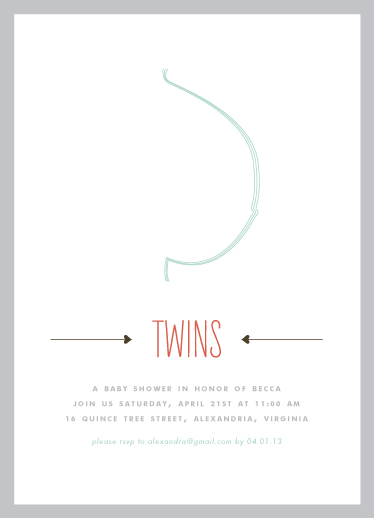 baby shower invitations - Baby Bump Twins by Alexandra Stafford