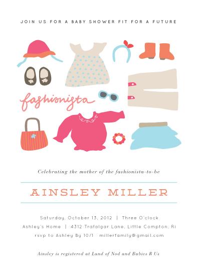 baby shower invitations - Little Fashionista by Jennifer Wick